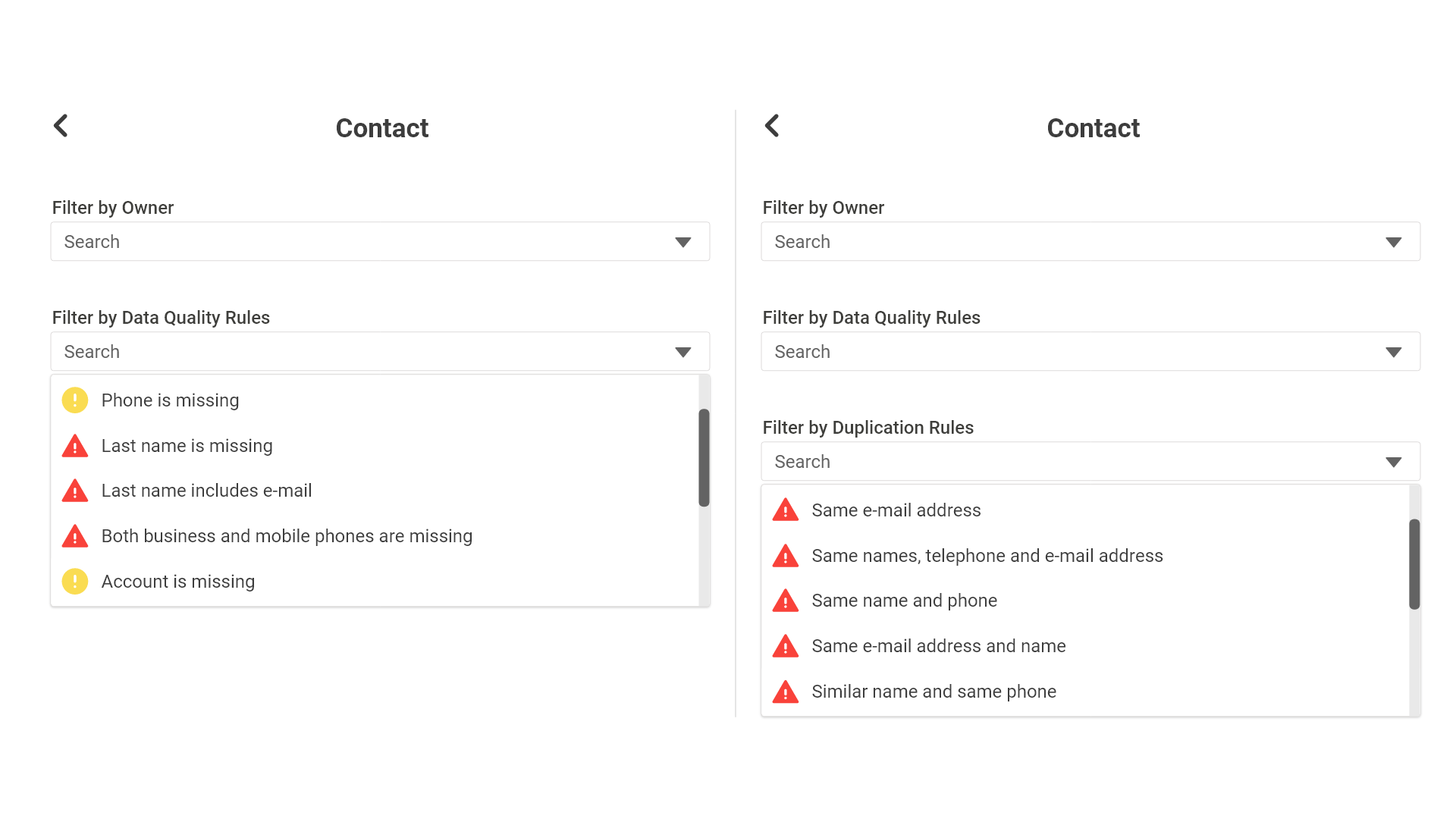 Review and remediate data quality issues straight in Dynamics 365.