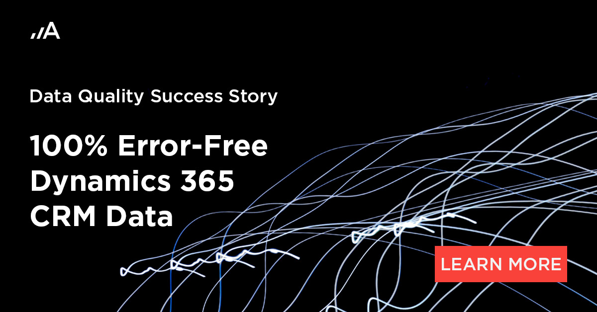 100 error free dynamics 365 srm data