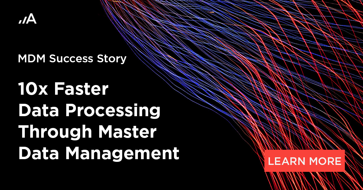 10x faster data processing through mdm