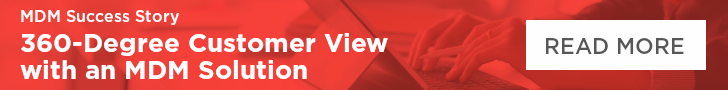 360 degree customer view with an mdm solution banner