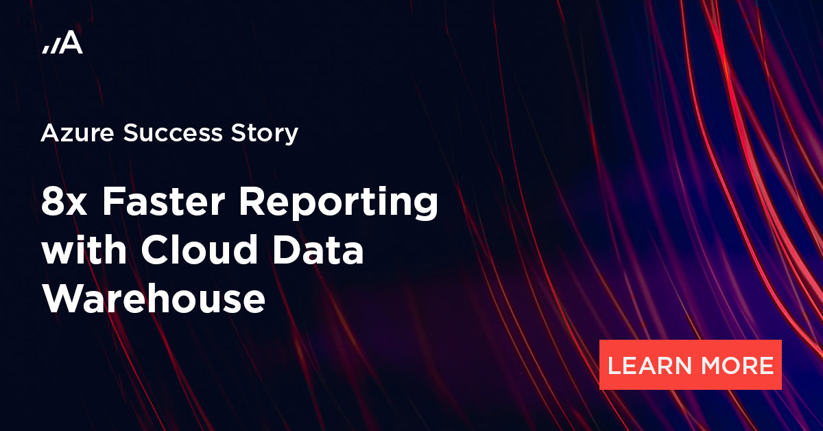 8x faster reporting with cloud data warehouse