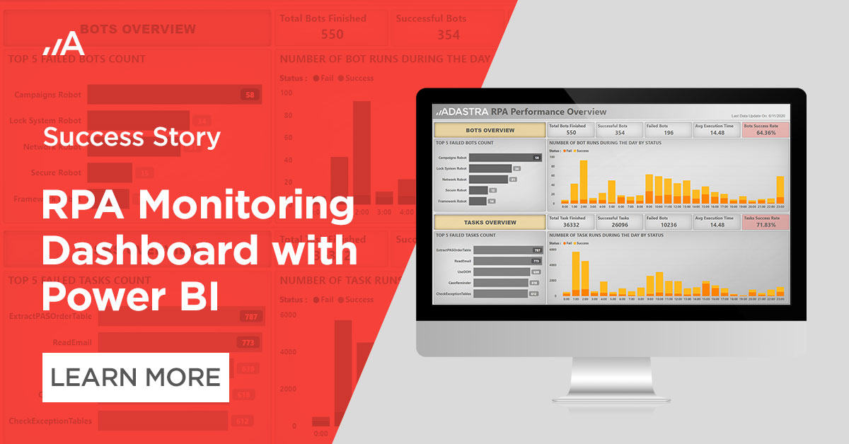 RPA Monitoring Dashboard with Power BI