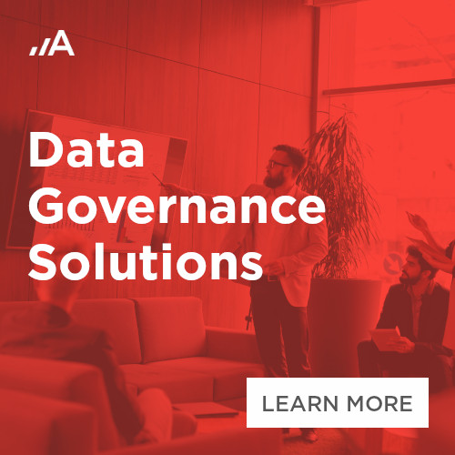 Data governance solutions by Adastra Bulgaria 500x500px banner.