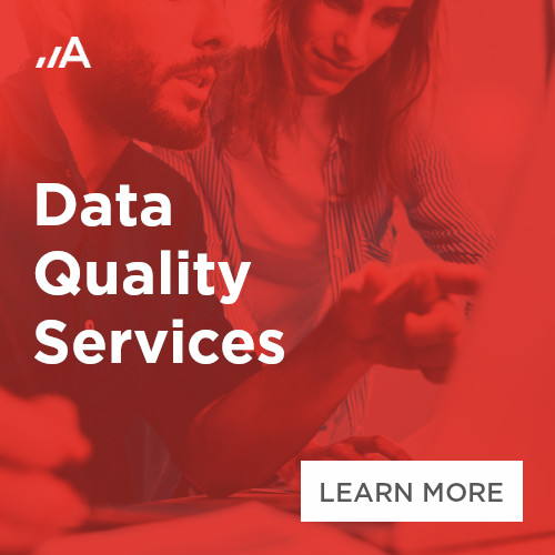 Data quality services by Adastra Bulgaria 500x500px banner.