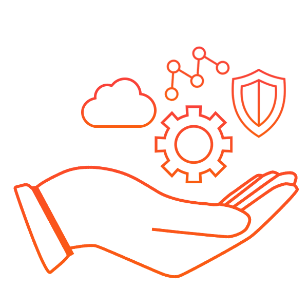 A hand mastering cloud managed services.