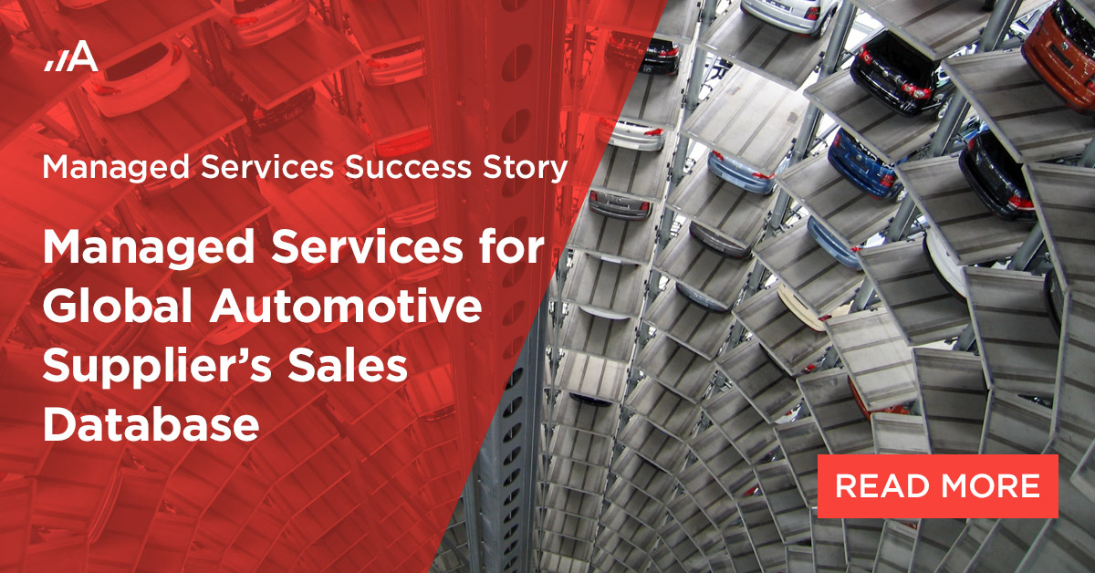 managed services for global automotive suppliers sales database