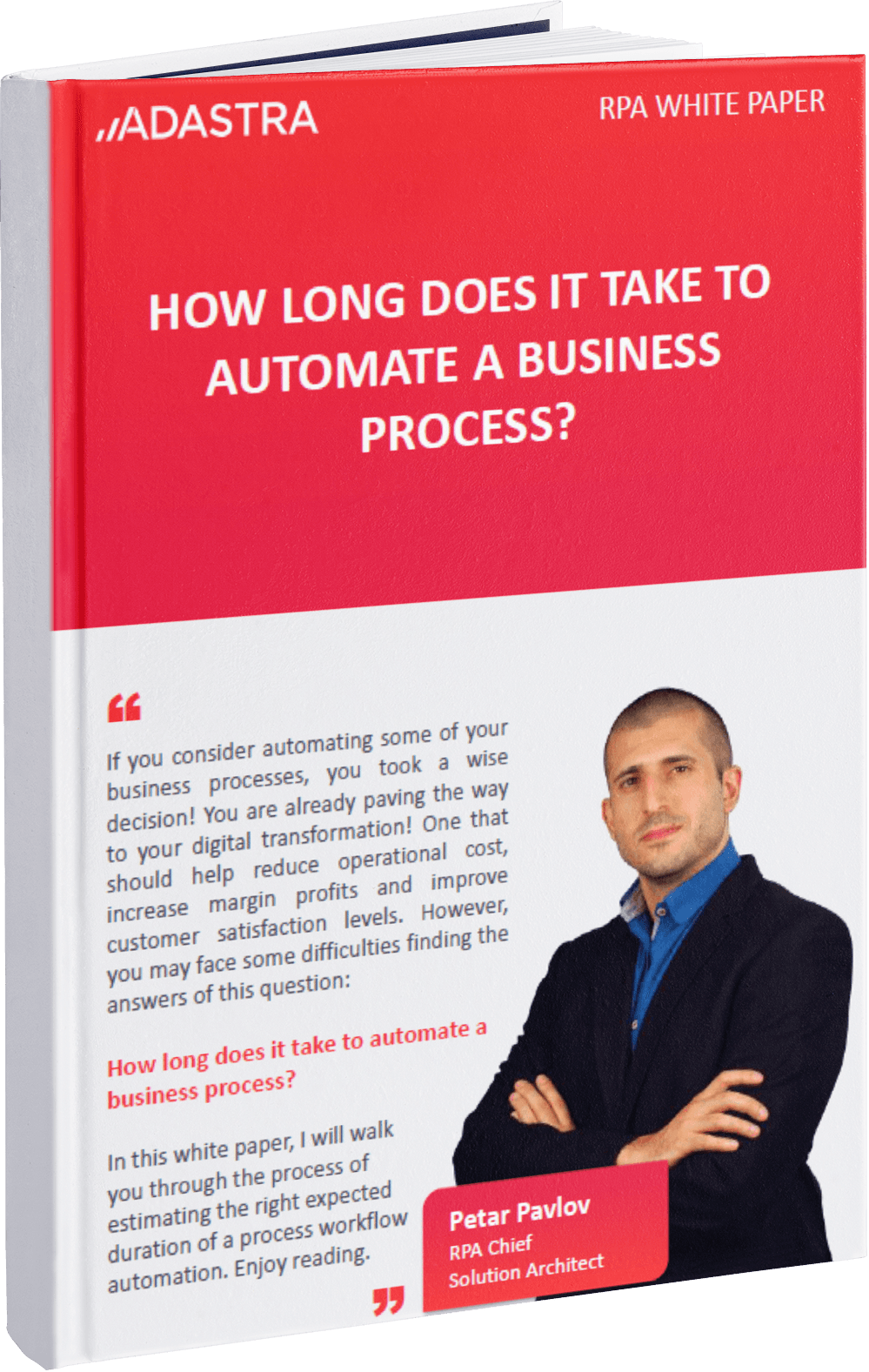White paper cover - how long does it take to automate a business process?