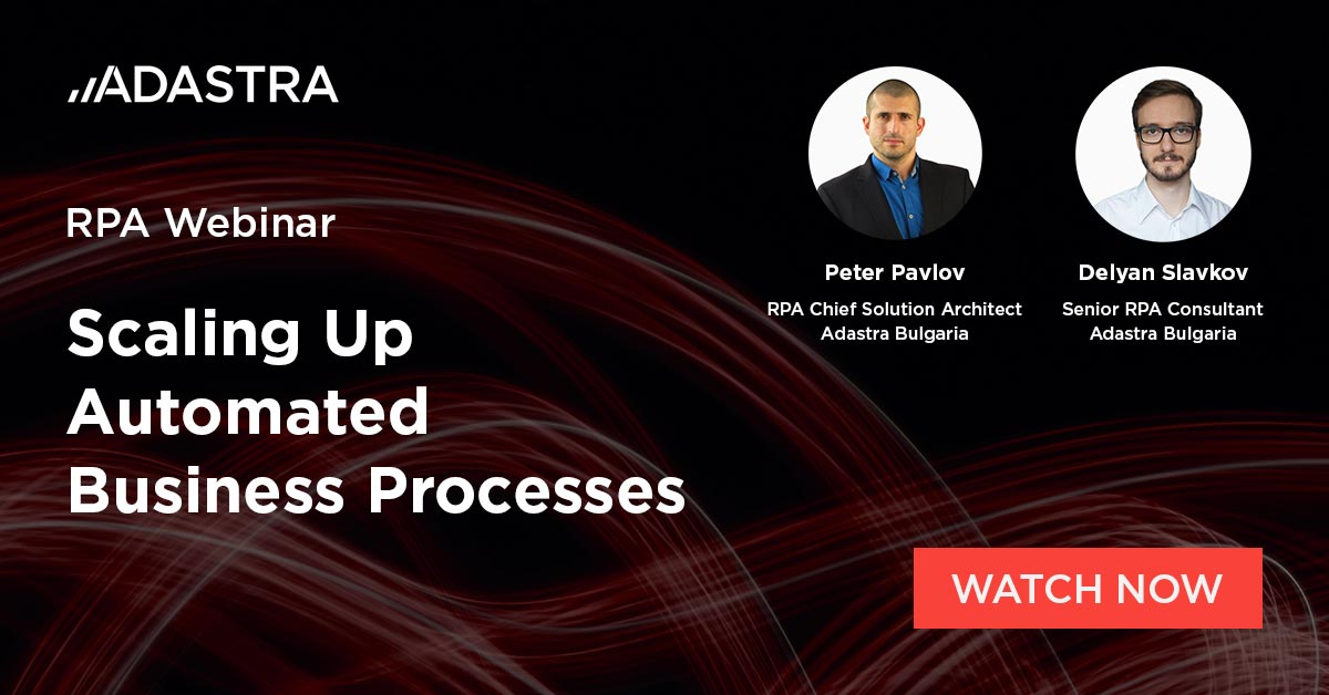 On-demand RPA webinar - Scaling Up Automated Business Processes.